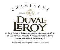 Un Happy Birthday pétillant offert par Champagne Duval Leroy au Petit Prince de Paris