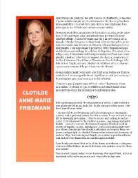 exposition de Clotilde Anne-Marie Friedmann durant tout le mois de mai .