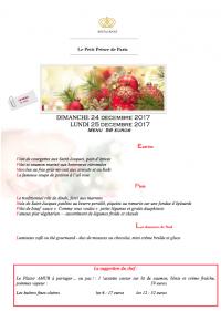 Un menu pour le 24 décembre ou le soir de Noel... Un dîner entre amis, en famille au Panthéon